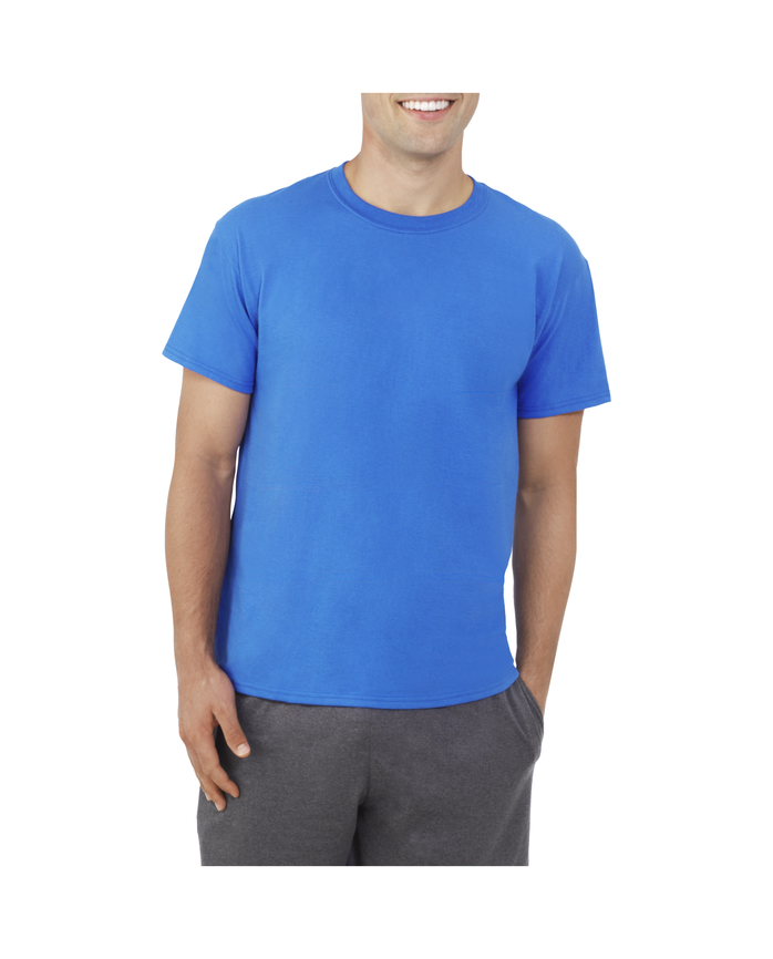 Men's Dual Defense UPF Short Sleeve Crew T-Shirt Air Force Blue