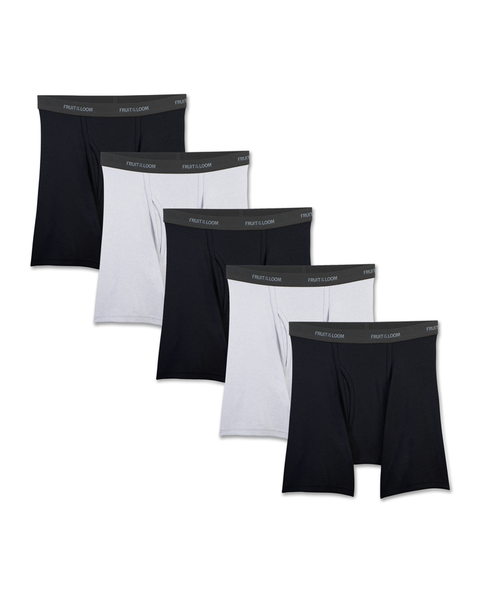 Men's Beyondsoft Black/Gray Boxer Briefs, 5 Pack