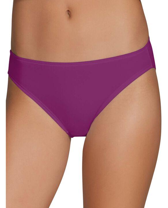 Women's Cotton Stretch Black Bikini Underwear, 12 pack ASSORTED