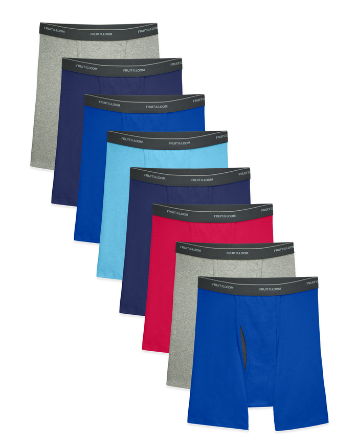 Men's CoolZone Assorted Boxer Briefs, 8 Pack