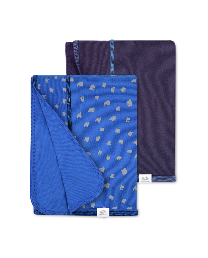 Baby Boys' Grow & Fit Blankets, 2 Pack