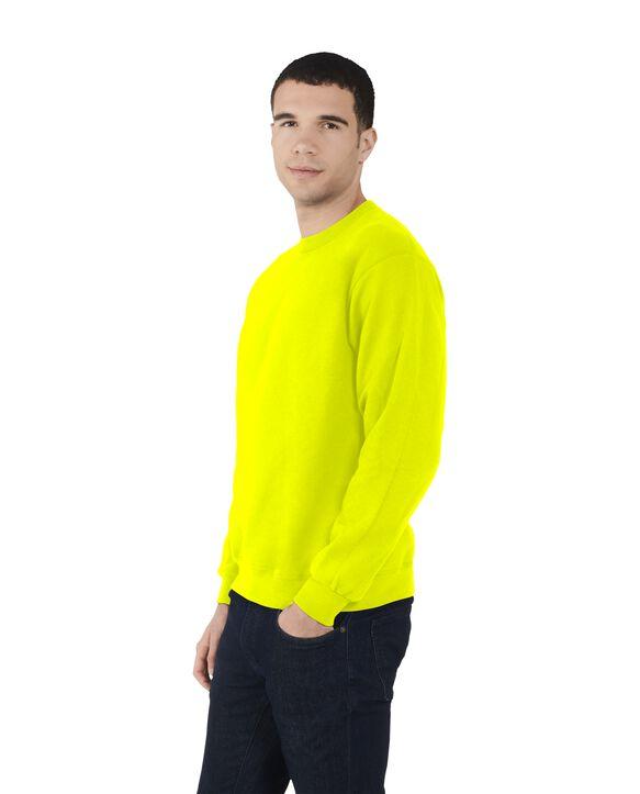 Men's EverSoft Fleece Crew Sweatshirt, 1 Pack Safety Green