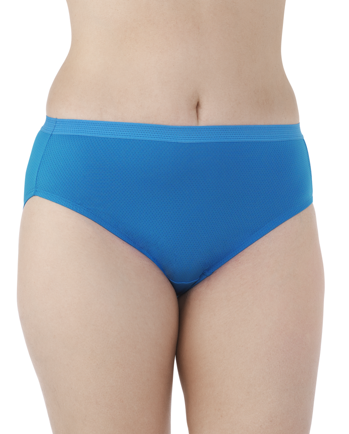 Women's  Fit for Me Breathable Micro-Mesh Brief, 6 Pack ASSORTED