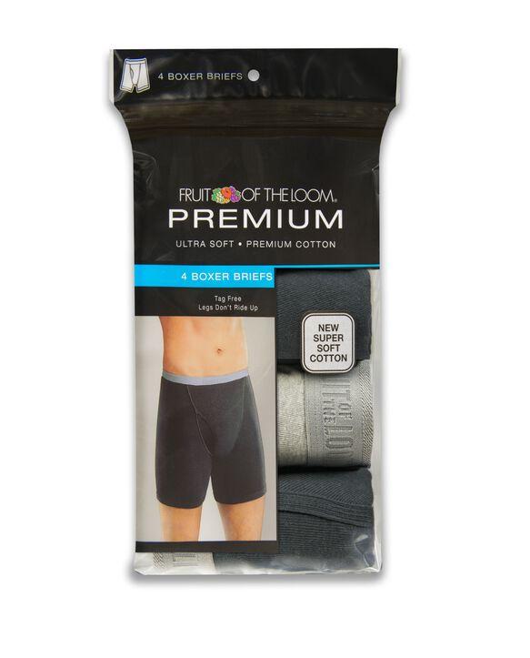 Men's 4 Pack Premium Cotton Boxer Briefs