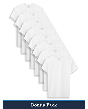 Boys' Classic White Crews, 8 Pack