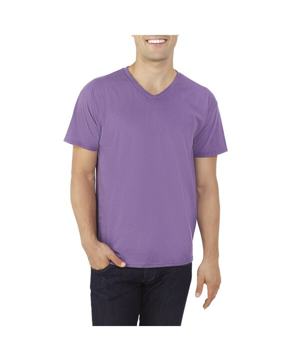Big Men's EverSoft V-Neck T-shirt, 1 Pack Smokey Grape