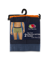 Stretch Cotton Low Rise Assorted Trunks, 2 Pack Assorted