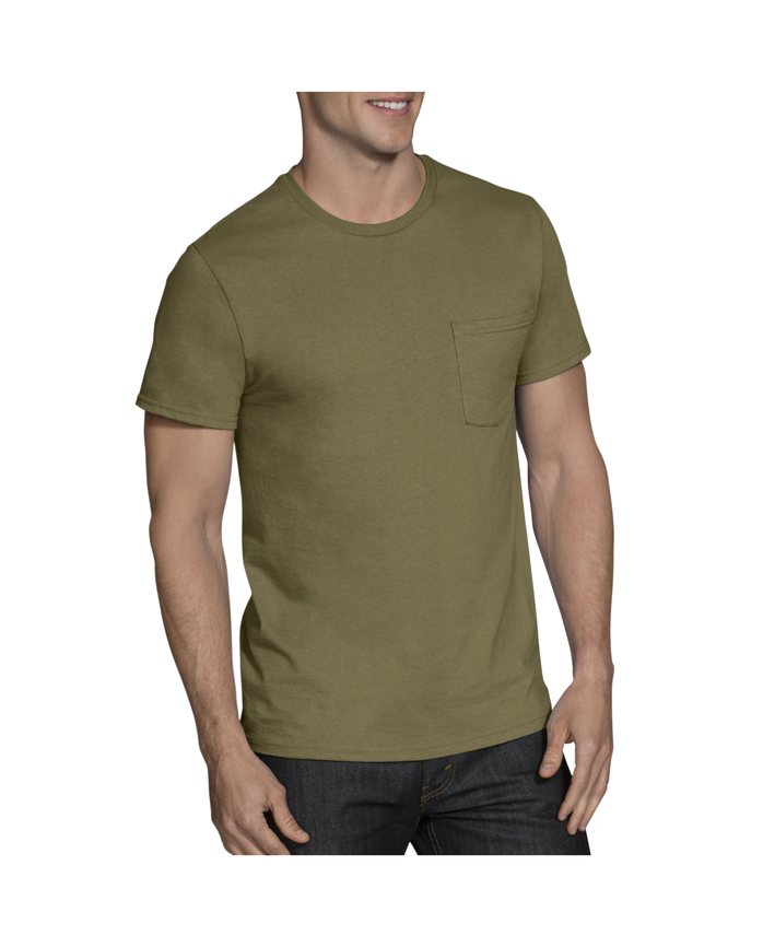 Men's Short Sleeve Fashion Pocket T-Shirts, 5 Pack ASSORTED