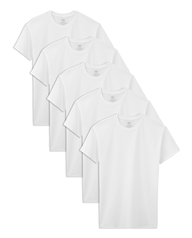 Boys' 5 Pack White Crews White