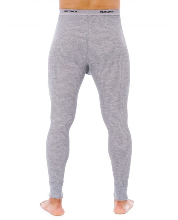 Men's Classic Thermal Underwear Bottom Light Grey Heather