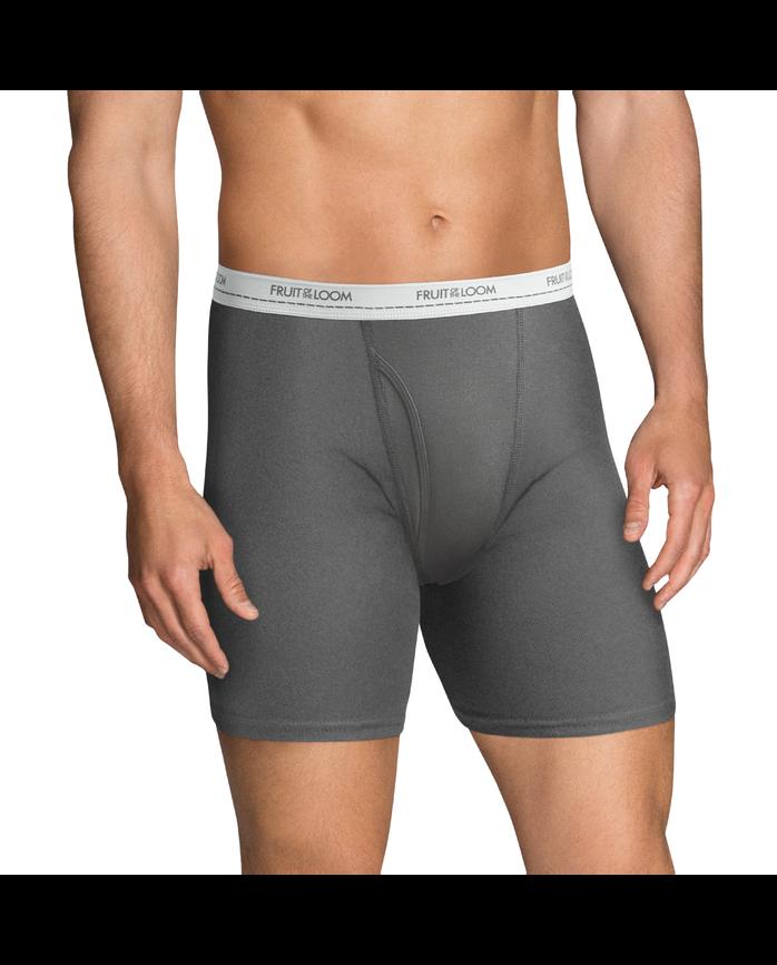 Men's Dual Defense Active Cotton Blend Boxer Briefs, 8 Pack
