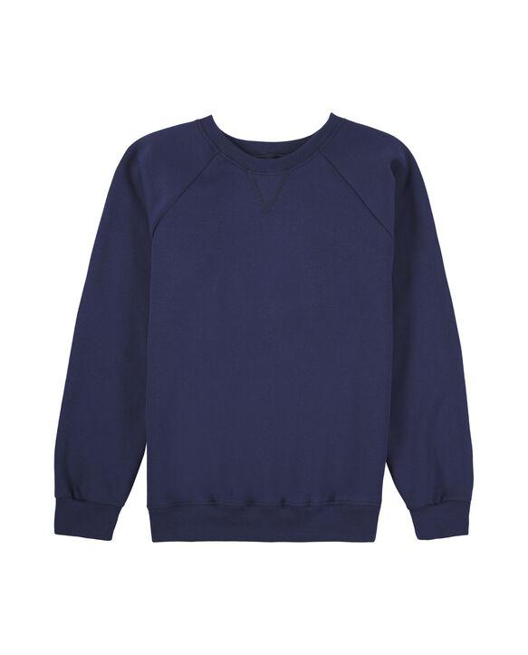 Boys' Fleece Raglan Crewneck Sweatshirt, 1 Pack Navy
