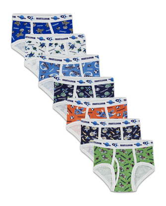Toddler Boys' Days of the Week Print Brief, 7 Pack