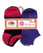 Girls' Lightweight No Show Socks, 10 Pack BLACK/PINK, BLACK/BLUE, BLACK/PURPLE, PURPLE, GREY, BLUE, PINK
