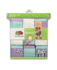 Toddler Girls' 9 Pack Assorted Cotton Brief Assorted