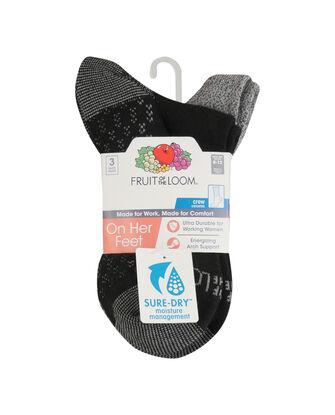 Women's On Her Feet Lightweight Boot Crew Socks, 3 Pack