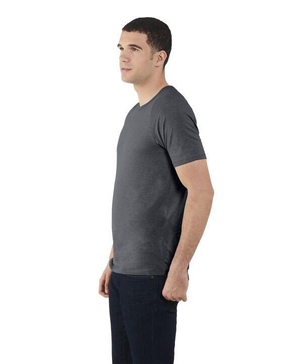 Men's Short Sleeve EverLight™ Raglan T-Shirt, 2 Pack Dark Charcoal Heather