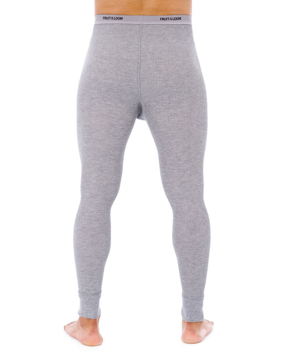 Men's Waffle Thermal Bottom, 1 Pack LIGHT GREY HEATHER