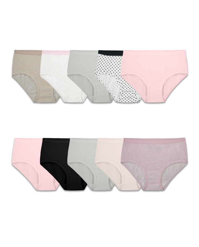 Girls' 10 Pack Assorted Classic Cotton Brief