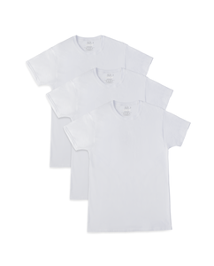 Men's Breathable Cooling Cotton White Crew