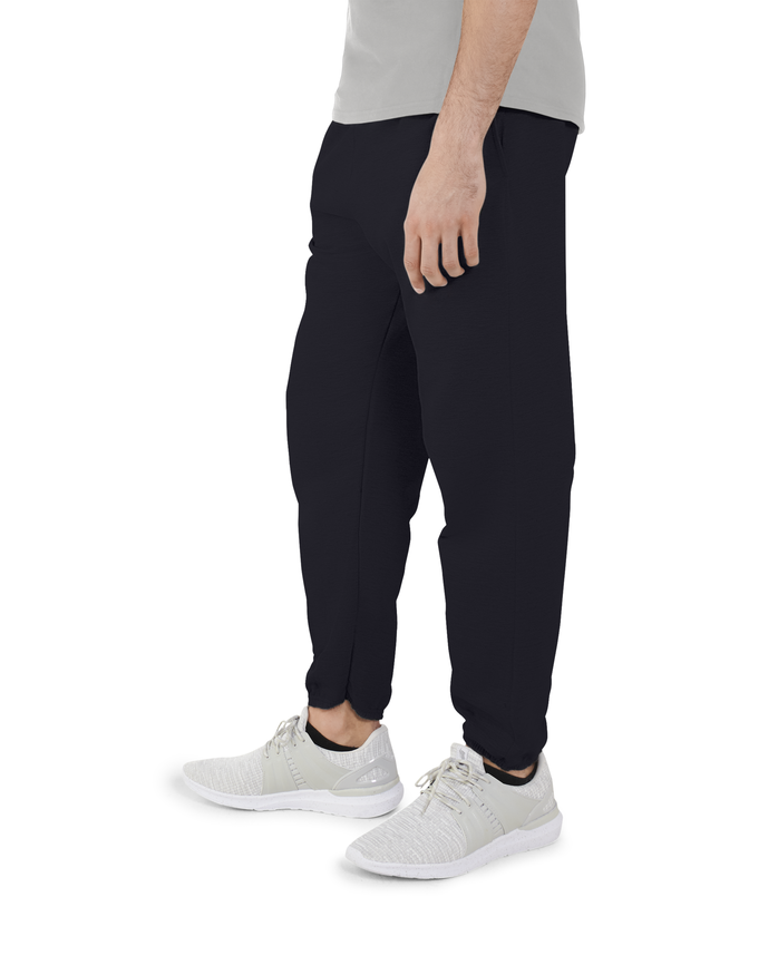 Big Men's EverSoft Fleece Elastic Bottom Sweatpants, 1 Pack Black