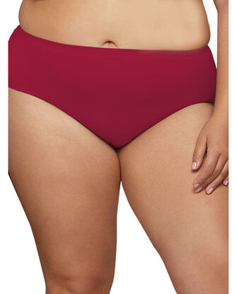 Women's Plus size Fit for Me Microfiber Assorted Brief Underwear, 6 Pack