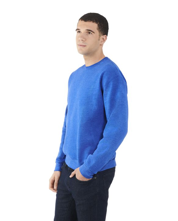 Men's Fleece Crew Sweatshirt, 1 Pack Royal Heather