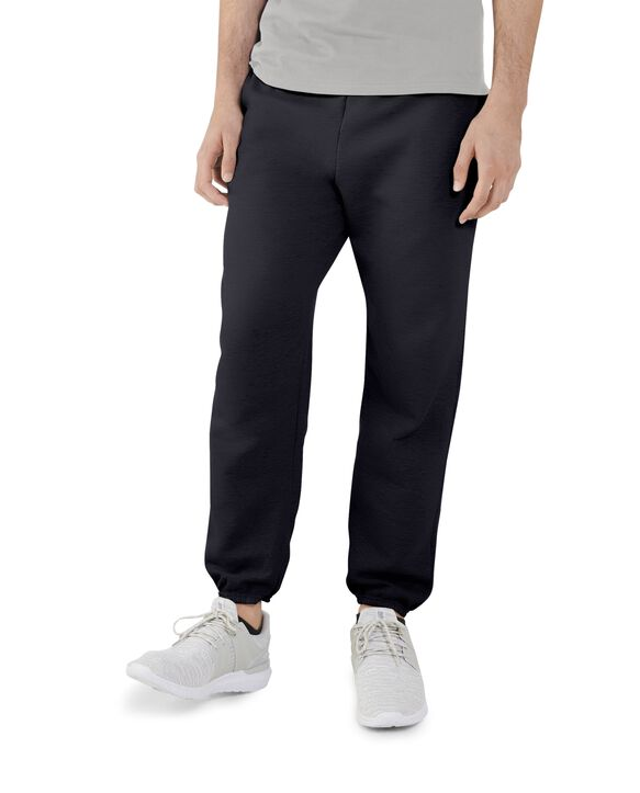 Men's EverSoft Fleece Elastic Bottom Sweatpants, 1 Pack Black