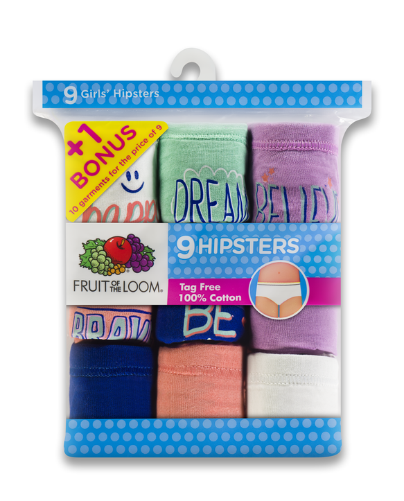 Girls' Assorted Hipster, 10 Pack Assorted