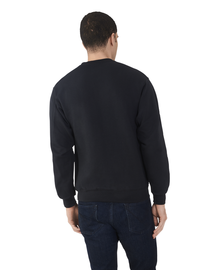 Big Men's EverSoft Fleece Crew Sweatshirt Black
