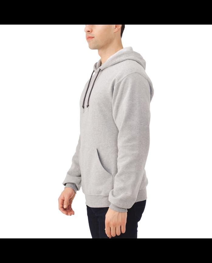 Big Men's EverSoft Fleece Pullover Hoodie Sweatshirt Steel Grey Heather