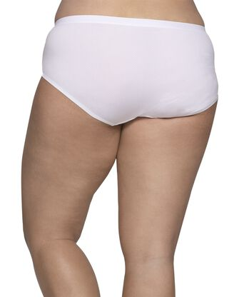 Women's Plus Size Fit for Me® by Fruit of the Loom® Breathable Micro-Mesh Hipster Panty , 6 Pack