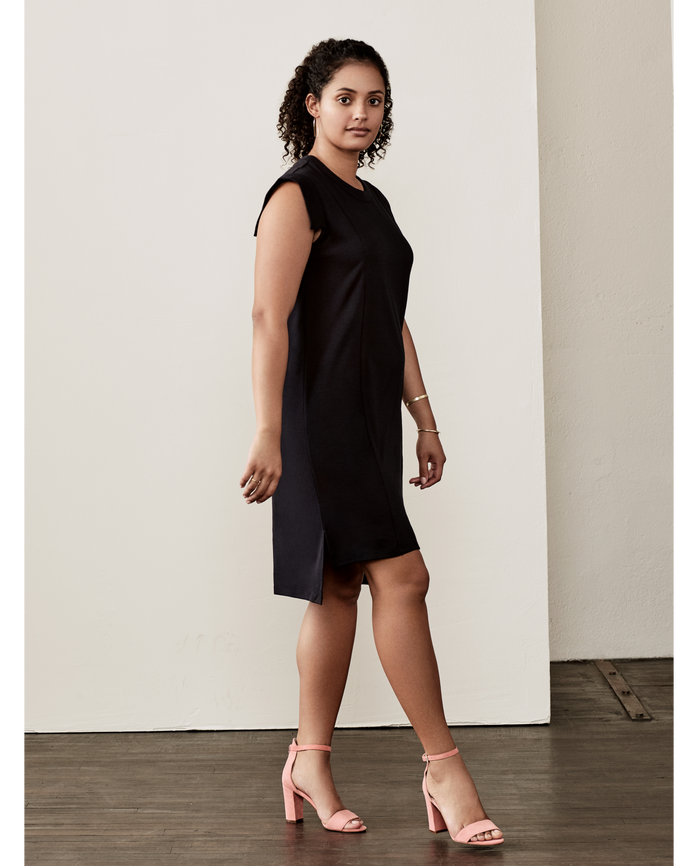 Women's Seek No Further™ Pleated Ponte Dress Brilliant Black