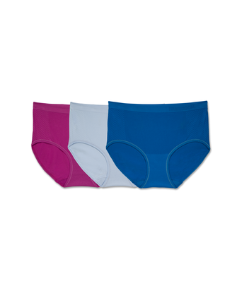 Women's Breathable Seamless Low Rise Briefs, 3 Pack