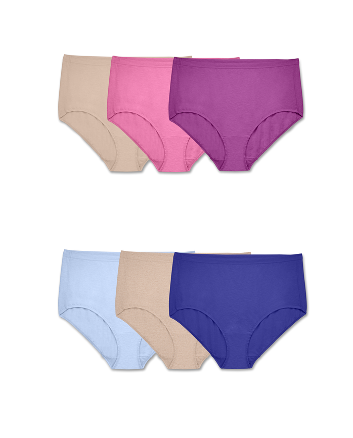 Women's  Fit for Me Assorted Beyondsoft Brief Panties, 6 Pack ASSORTED