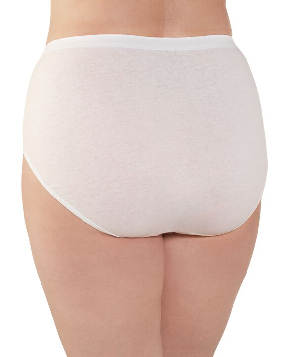 Women's  Fit for Me®  Cotton White Brief, 3 Pack White