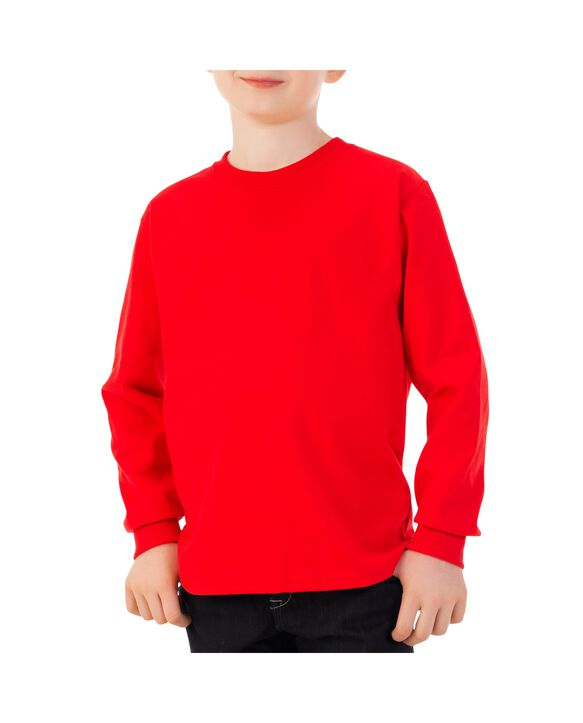 Boys'Long Sleeve T-Shirt, 1 Pack Red