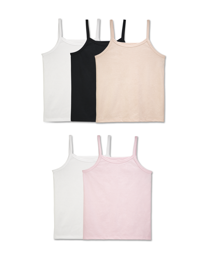 Girls' Cami, 5 Pack ASSORTED