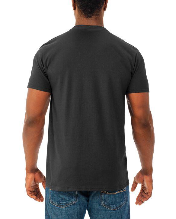 Men's Soft Short Sleeve V-Neck T-Shirt, 4 Pack Black