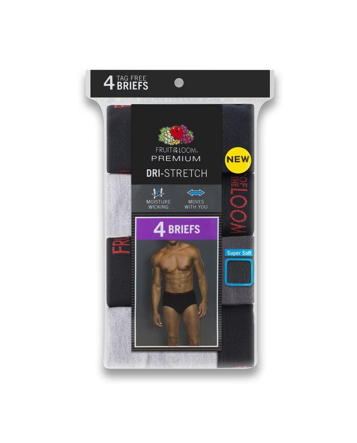 Men's Premium Dri-Stretch Brief - Assorted, 4 Pack