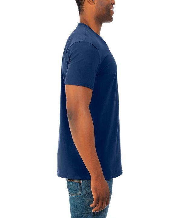 Soft Short Sleeve V-Neck T-Shirt, 4 Pack J Navy