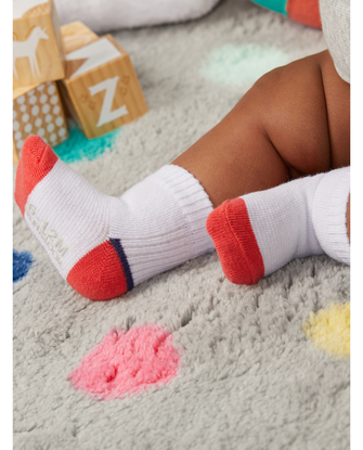Baby Boys' Grow & Fit Socks, 6 Pack