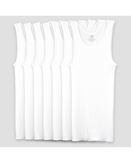 Boys' White A Shirts, 7 Pack White