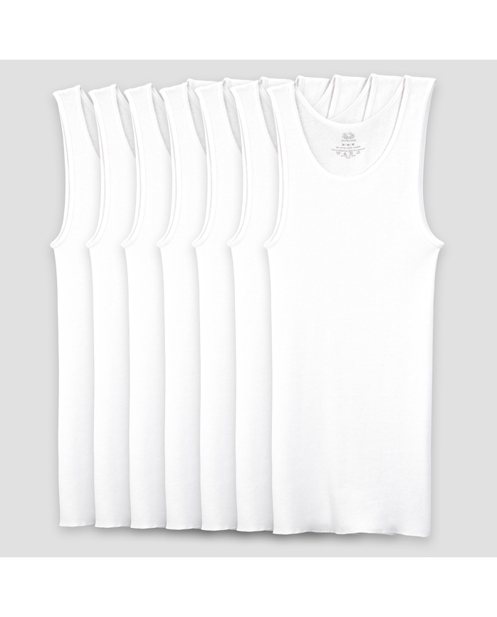 Boys' White A Shirts, 7 Pack