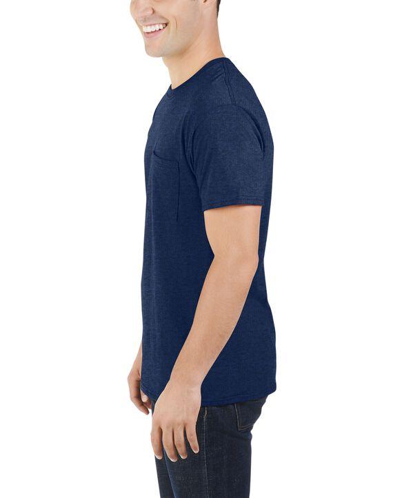 Men's Dual Defense UPF Short Sleeve Pocket T-Shirt, 1 Pack Indigo Ink Heather