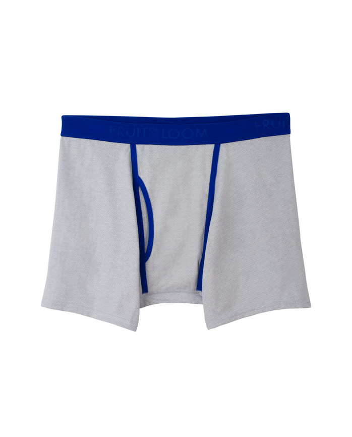 Men's Breathable Cotton Micro-Mesh Boxer Brief, 1 Pack Assorted