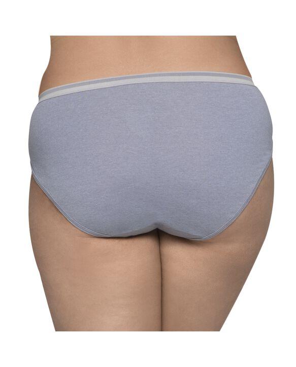 Women's Plus Heather Assorted Cotton Hi-Cut Underwear, 6+2 Bonus Pack ASSORTED