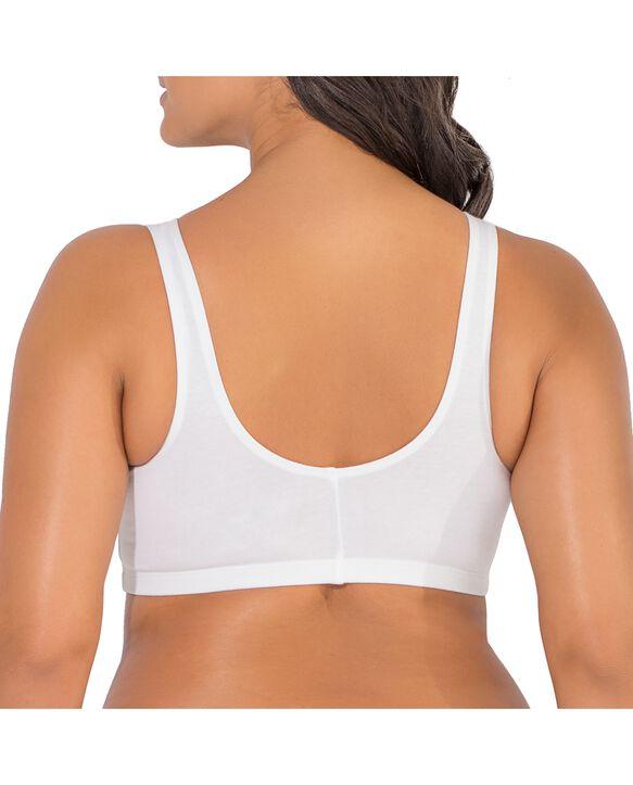 Women's Beyond Soft Front Closure Cotton Bra, 1 Pack WHITE