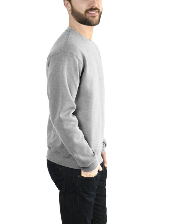 Big Men's EverSoft Fleece Crew Sweatshirt, 1 Pack Steel Grey Heather