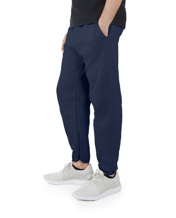 Men's EverSoft Fleece Elastic Bottom Sweatpants, Extended Sizes, 1 Pack Blue Cove